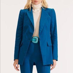 Veronica Beard Long & Lean Dickey Jacket Cerulean